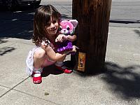 Tiffany checks out a Gnome