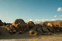 About four miles west of Lone Pine lies Nightmare Rock