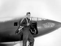 Captain Chuck Yeager with the Bell X-1