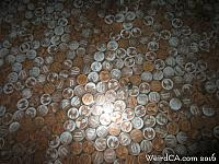 Pennies in the floor