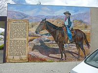 A mural to Avelino Martinez in downtown Tehachapi