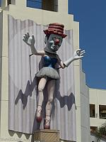 Venice plays host to a three story tall ballerina clown!