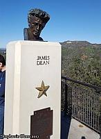 James Dean Bust at Griffith Observatory - photo by Stephanie Olsen