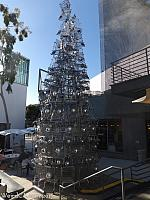 Every Christmas, Santa Monica hosts a Shopping Cart Christmas Tree