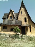 House during reconstruction many years ago