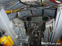 The cockpit of a B-52