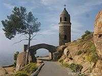 The Peace Tower and Peace Bridge of Mount Rubidoux