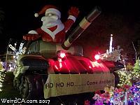 Santa on a Tank