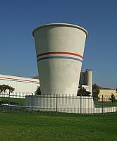 Cup with horizontal lines and fence around it - photo from <a href='https://commons.wikimedia.org/wiki/File:Dixie_Cup_20090904.jpg'>Wikimedia</a>