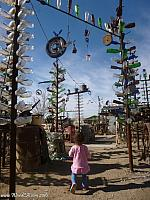 Tiffany exploring the Bottle Tree Ranch