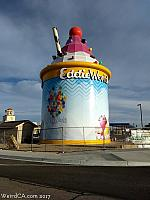 A Giant Ice Cream Sundae can be spotted in the desert off Interstate 15!