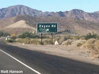 The Sign to Zzyzx off Highway 15