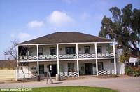 The Robinson Rose House is now the Visitor's Center for Old Town San Diego