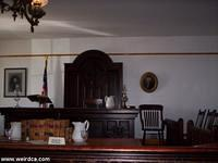 Courtroom inside the Whaley House