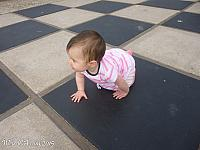 Tiffany exploring the Giant Chessboard of Morro Bay
