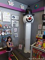 Tiffany with the World's Largest Pez Dispenser
