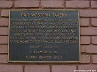 Plaque commemorating the Far Western Tavern