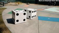 Giant Dice - photo by Mark and Stephanie Olsen