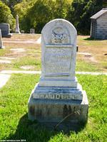William Waddel, but not his arm, is buried in Santa Cruz Memorial Cemetery
