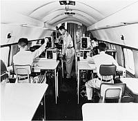 Training inside a Convair T-29 Flying Classroom