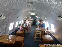 Dining inside the airplane