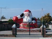 Santa Claus Watches Over Highway 101
