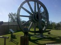 The World's Largest Wagon Wheel and Pickaxe in Canada