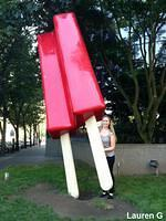 Giant Red Popsicle
