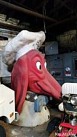 Kip discovered a Doggie Diner head in a warehouse