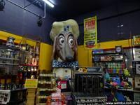 A Doggie Diner Head resides within Streetlight Records in San Jose