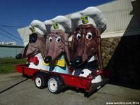John Law's Three Doggie Diner Heads