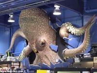 An Alien Octopus bursts through the walls of Fry's Electronics!