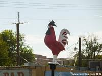 The Red Rooster Bar in Overton, Nevada literally has a giant red rooster!