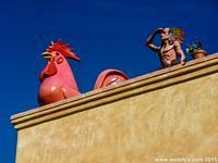 Giant Rooster and other statues in Newport Beach