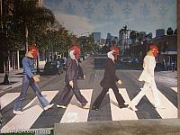 Abbey Road with Chicken Heads