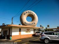 Randy's Donuts is one of six giant donuts in the Los Angeles area.