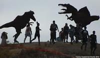 A 5K Zombie Race is always better with dinosaurs