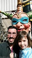 Tiffany and I with the Jester head