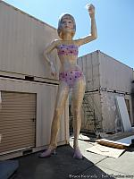 Uniroyal Girl - still wrapped in plastic after coming back from the painters, photo courtesy of Bruce Kennedy
