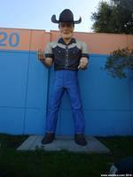 The Cowboy is one of the Hayward Muffler Men