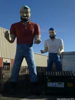Two Bunyan Muffler Men in Hayward