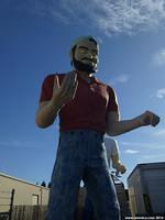 The Second Paul Bunyan Muffler Man in Hayward