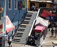 Pier 39s Piano Staircase in San Francisco
