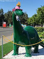 The Fairfield Sinclair Dinosaur wears a hat!