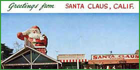 Old Postcard of Santa Claus Lane