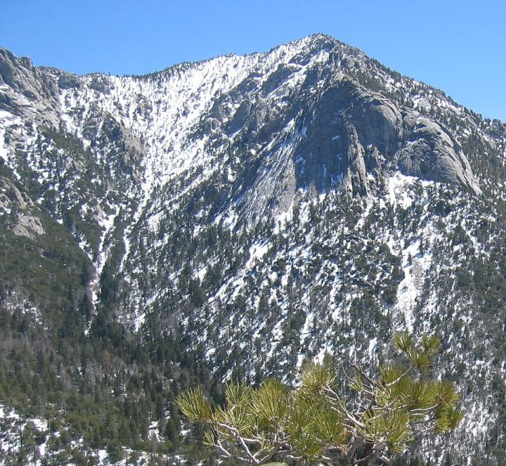 Tahquitz Peak - photo from <a href='http://en.wikipedia.org/wiki/Tahquitz_Peak#/media/File:Tahquitz.jpg'>WikiMedia</a>