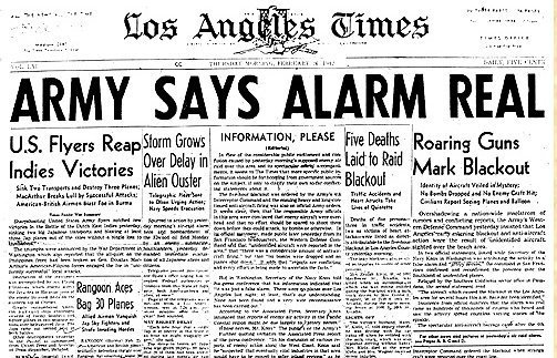 Los Angeles Times Paper the Morning After