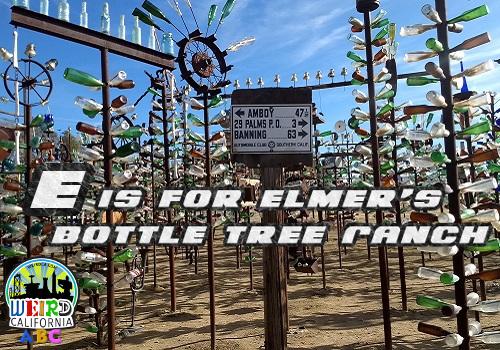 E is for Elmer's Bottle Tree Ranch