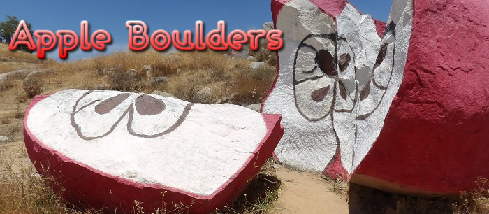 Perris has a rock formation painted up to look like sliced apples!