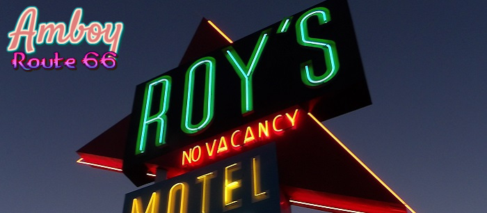 Route 66 is home to Amboy and Roy's Motel and Cafe!